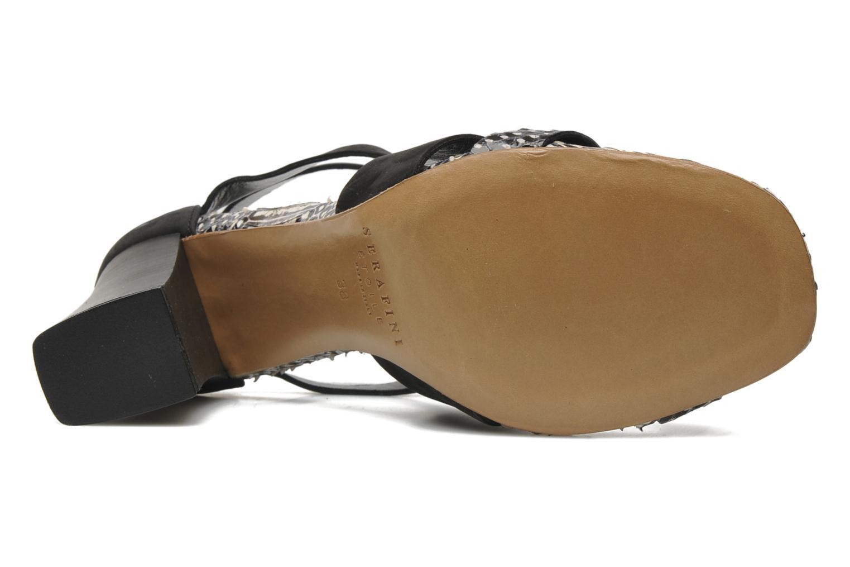 Sandales et nu-pieds Serafini Cruz Noir vue haut