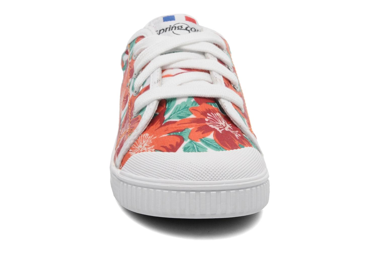 Baskets Spring Court GE1L JUNGLE Orange vue portées chaussures