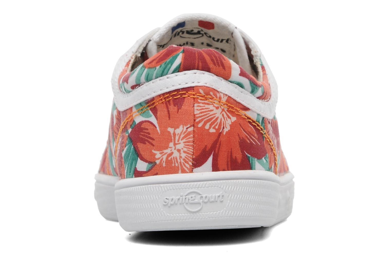 Baskets Spring Court GE1L JUNGLE Orange vue droite