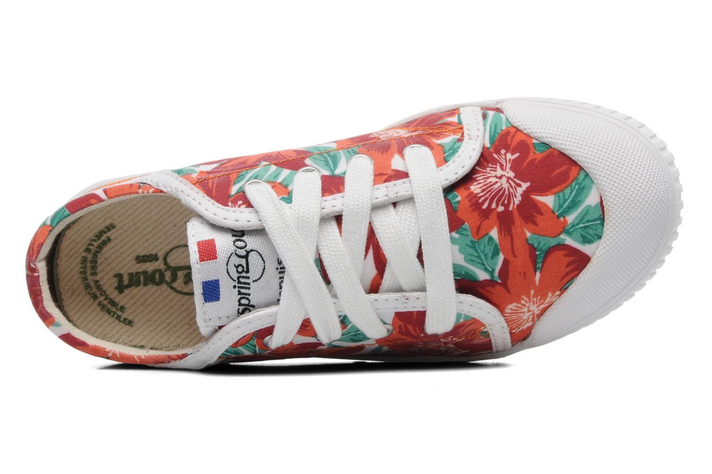 Sneakers Spring Court GE1L JUNGLE Arancione immagine sinistra