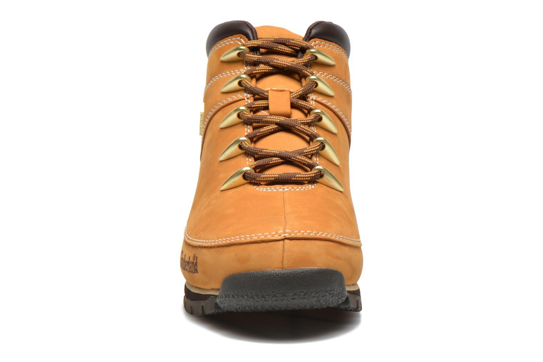 Schnürschuhe Timberland Euro Sprint Hiker beige schuhe getragen