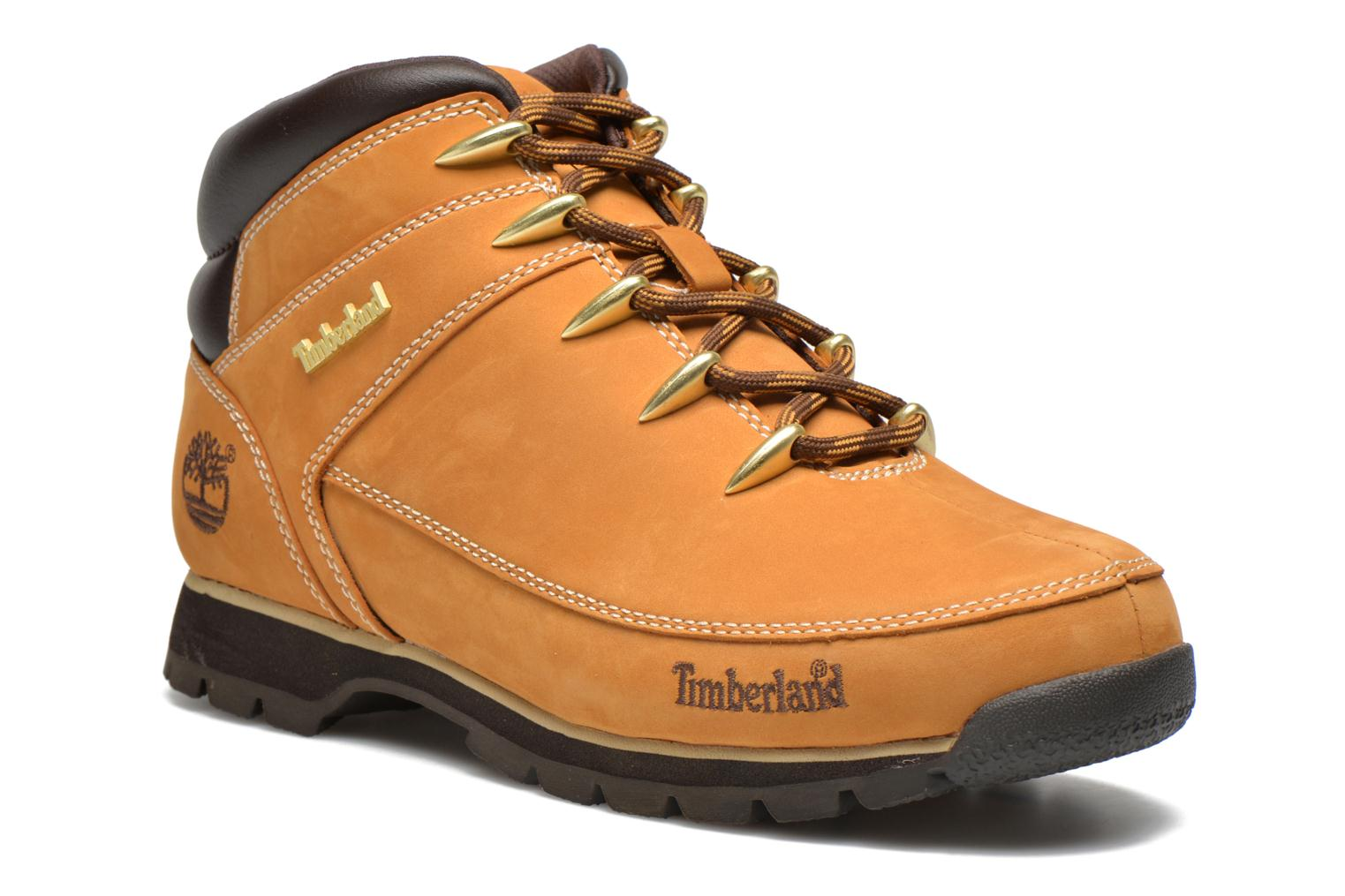 Lace-up shoes Timberland Euro Sprint Hiker Beige detailed view/ Pair view