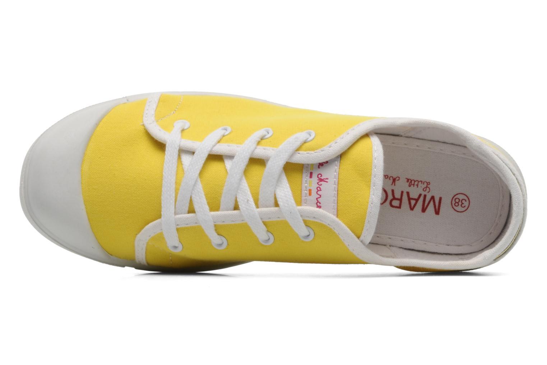 Sneaker Little Marcel Samba Uni gelb ansicht von links