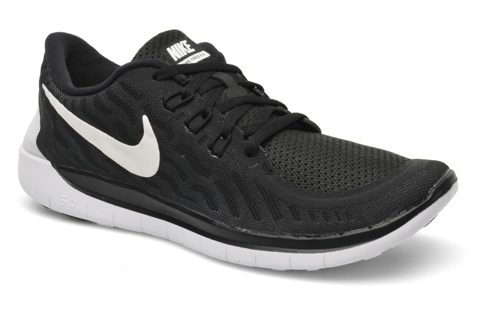 NIKE FREE 5.0 (GS) BLACK/WHITE-DARK GREY-CL GREY
