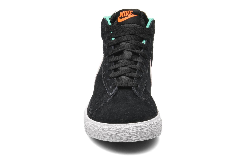 Sneaker Nike BLAZER MID (PS) schwarz schuhe getragen