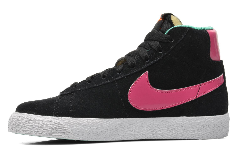 Sneaker Nike BLAZER MID (PS) schwarz ansicht von vorne