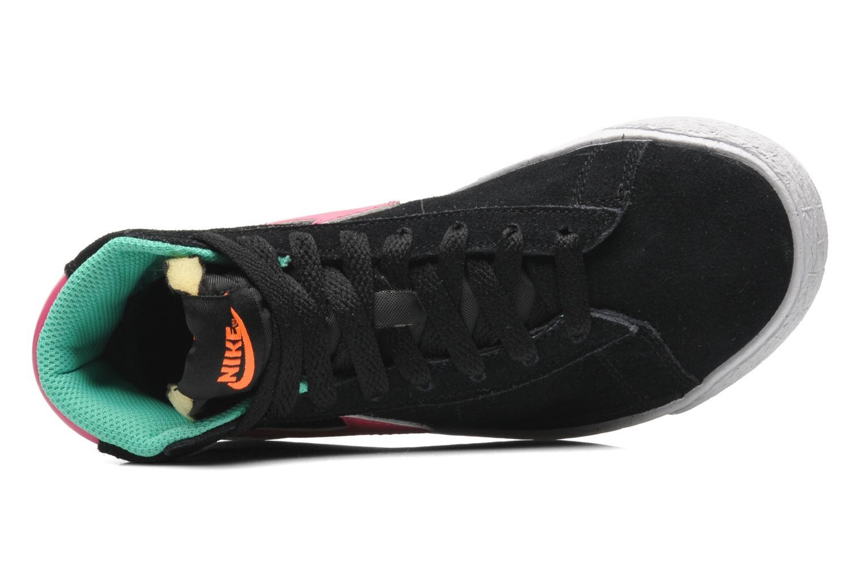 Sneaker Nike BLAZER MID (PS) schwarz ansicht von links