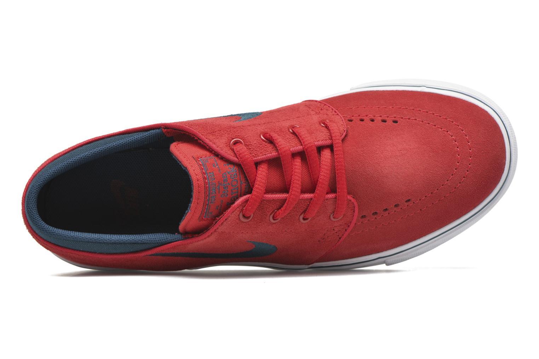 Sneaker Nike Stefan Janoski (GS) rot ansicht von links