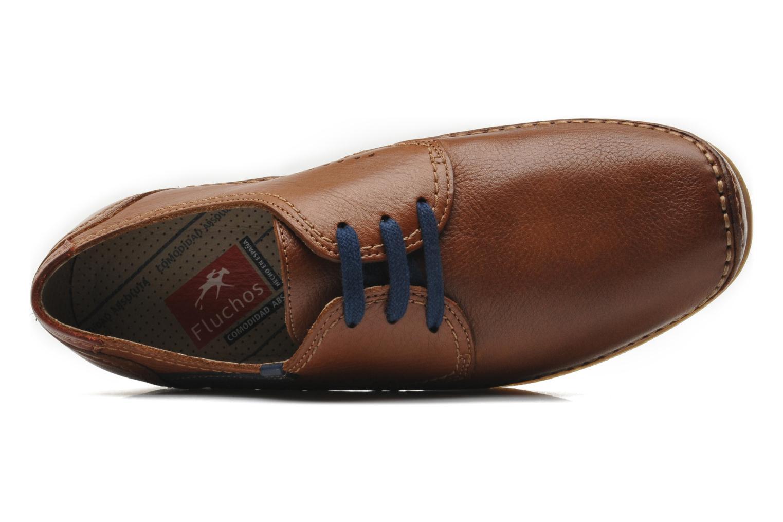 Zapatos con cordones Fluchos Catamaran 8566 Marrón vista lateral izquierda