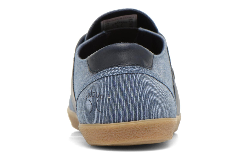 Baskets Faguo Cypress Bleu vue droite