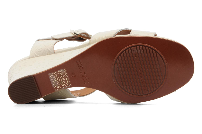 Sandales et nu-pieds Chie Mihara Senyorita Beige vue haut