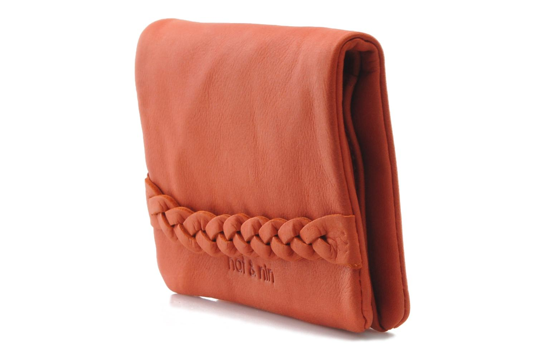 Kleine lederwaren Nat & Nin Lilou Oranje model
