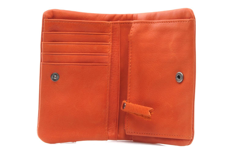 Kleine lederwaren Nat & Nin Lilou Oranje achterkant