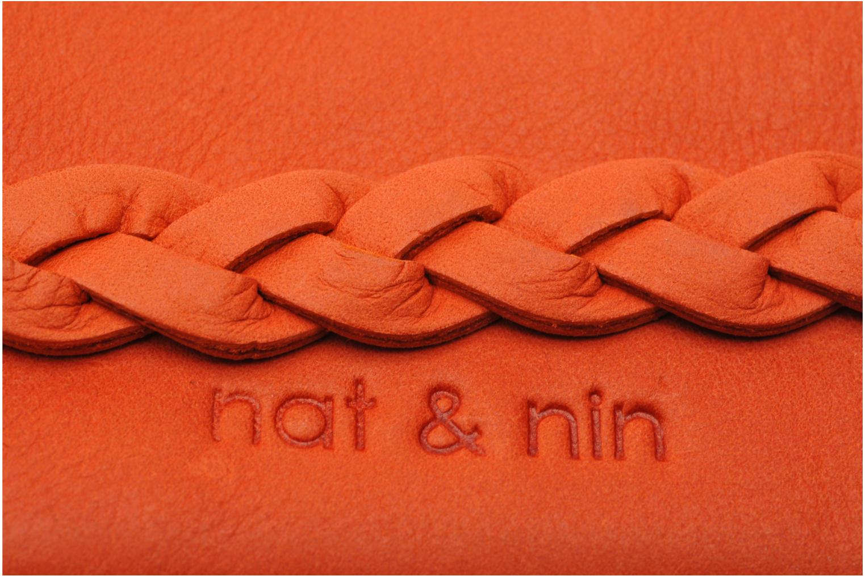 Kleine lederwaren Nat & Nin Lilou Oranje links
