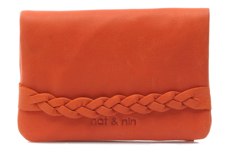 Kleine lederwaren Nat & Nin Lilou Oranje detail