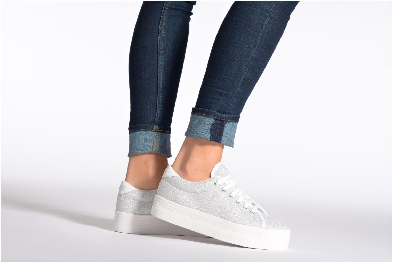 Navy Fox White No Name Plato Sneaker Strass (Bleu)