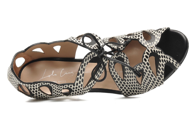 Sandales et nu-pieds Lola Cruz Mada Noir vue gauche
