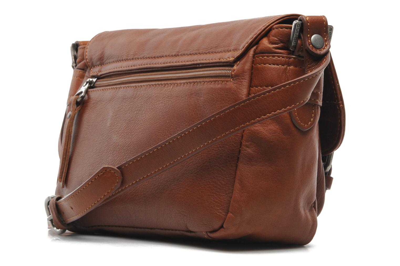 Handbags Sabrina Nicky Brown view from the right