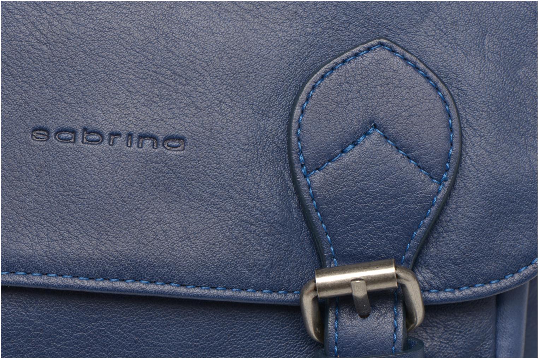 Handtaschen Sabrina Nicky blau ansicht von links