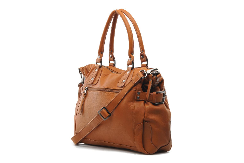 Handtaschen Sabrina Camille braun ansicht von rechts