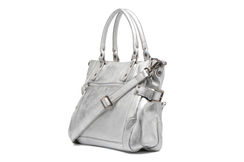 Handtaschen Sabrina Camille silber ansicht von rechts