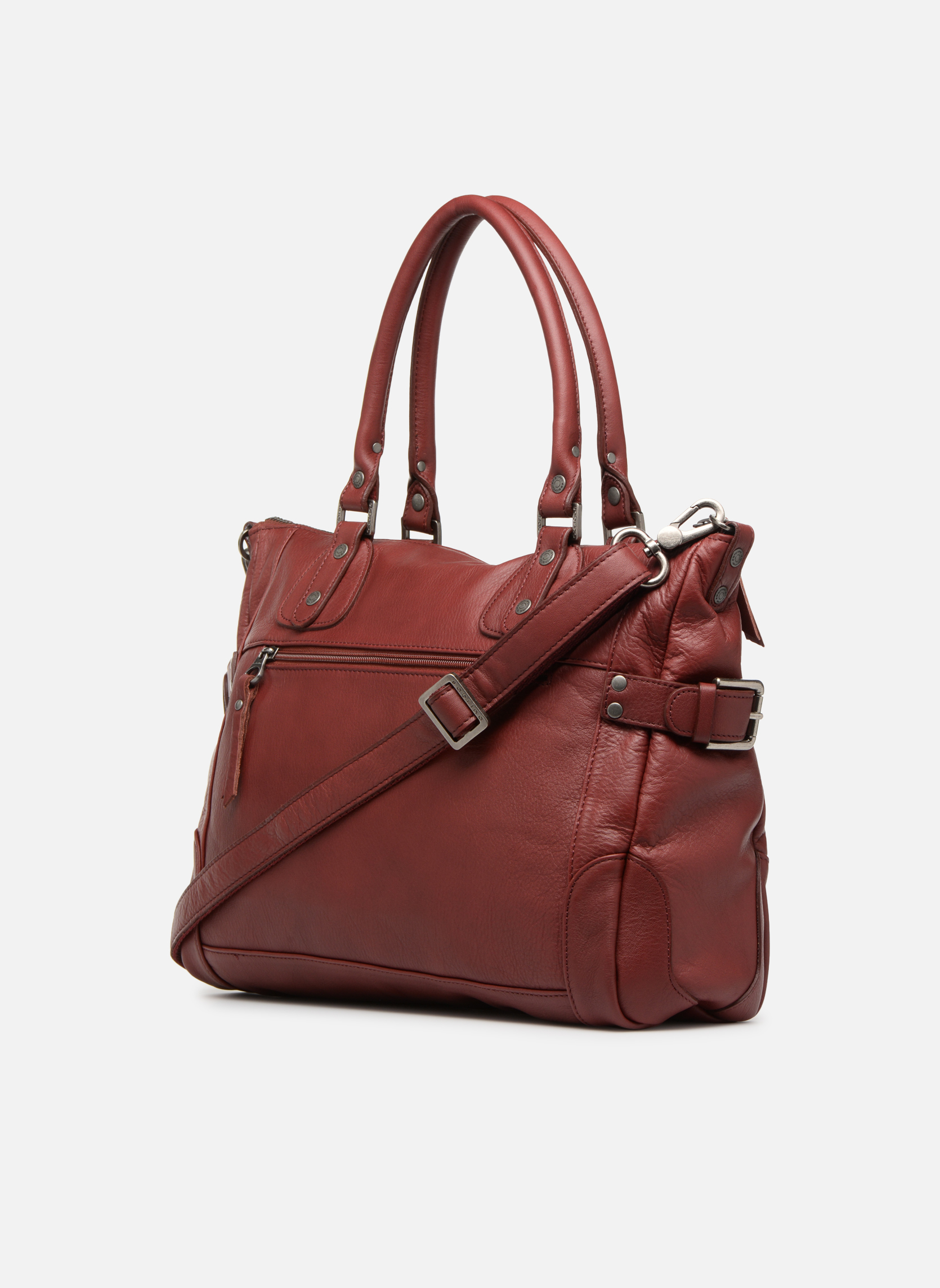 Handbags Sabrina Camille Red view from the right