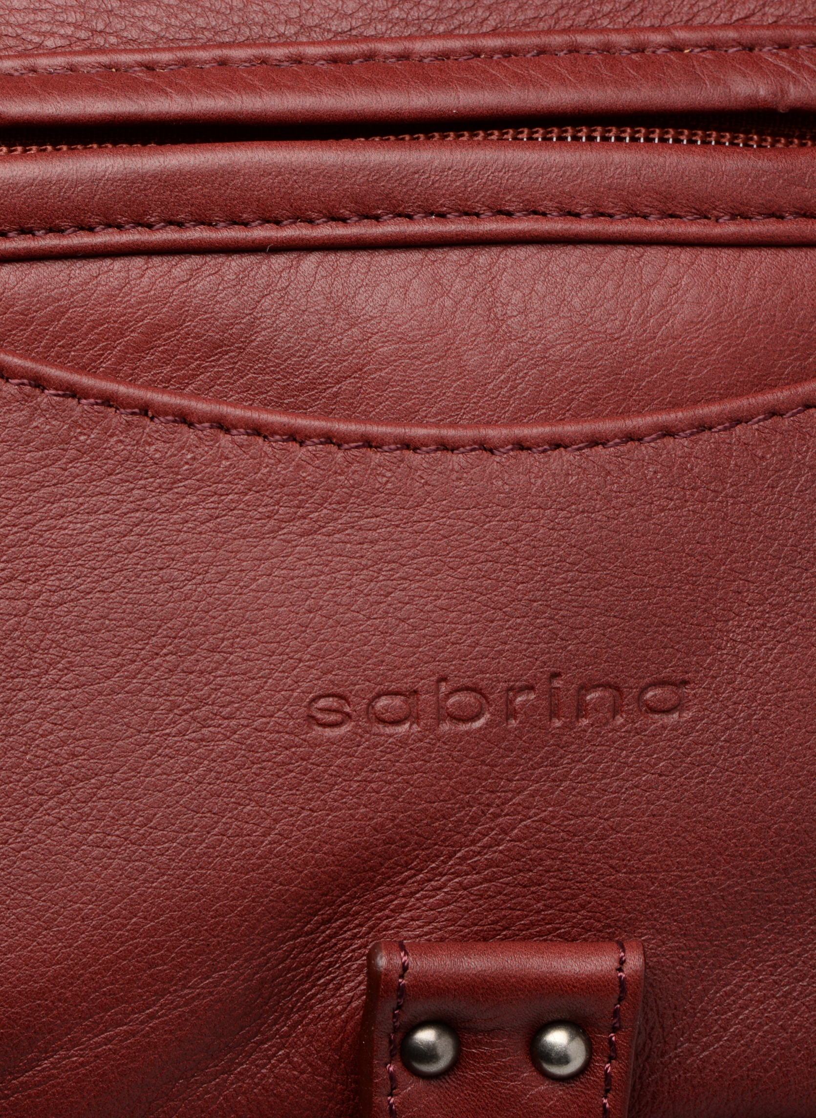Handbags Sabrina Camille Red view from the left