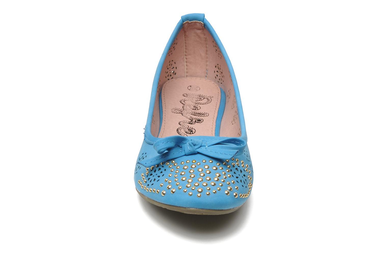 Ballerinas Refresh Béline blau schuhe getragen