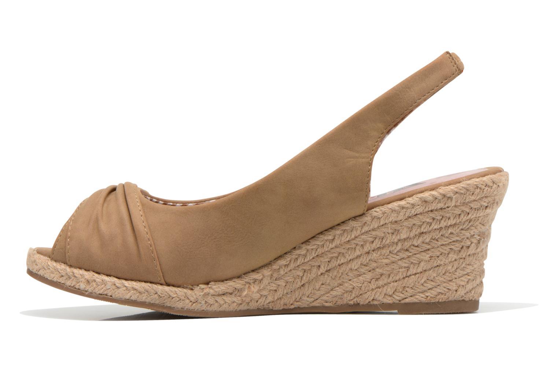 Sandales et nu-pieds Refresh Britt Marron vue face
