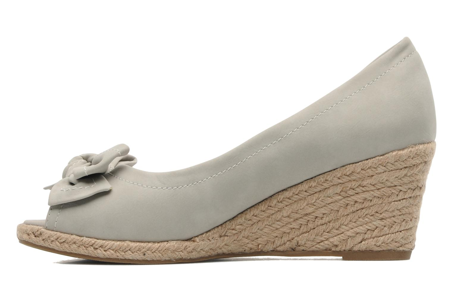 Espadrilles Refresh Bordeaux Gris vue face