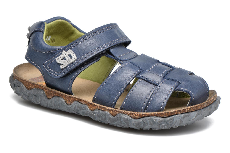 Sandaler Stones and Bones NATAN Blå detaljeret billede af skoene