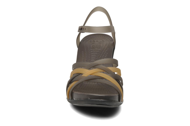 Huarache Sandal Wedge Bronze/Espresso