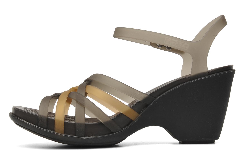 Sandalen Crocs Huarache Sandal Wedge Zwart voorkant