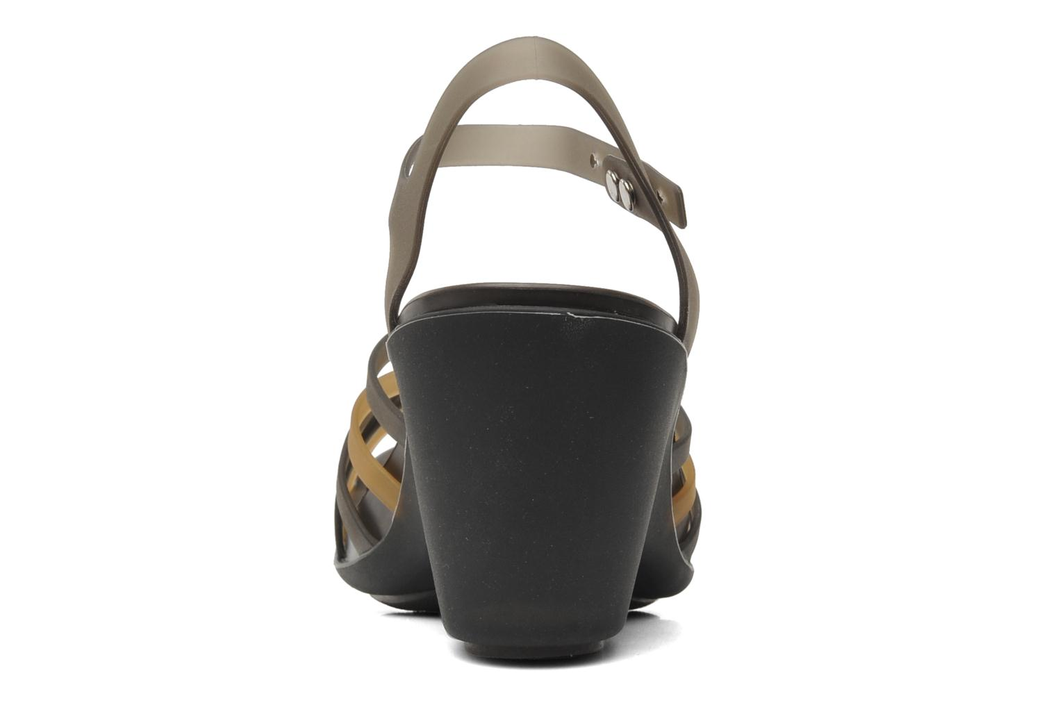 Sandals Crocs Huarache Sandal Wedge Black view from the right