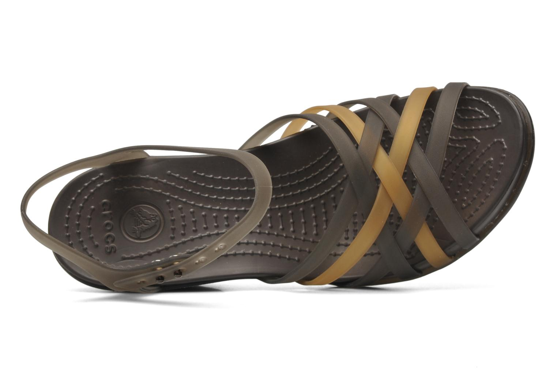 Sandalen Crocs Huarache Sandal Wedge Zwart links