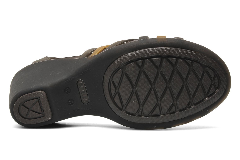 Sandalen Crocs Huarache Sandal Wedge Zwart boven