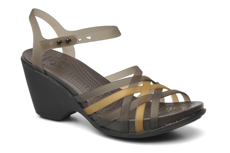 Sandals Crocs Huarache Sandal Wedge Black detailed view/ Pair view