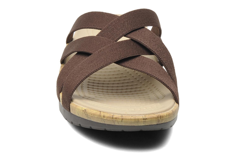 Clogs & Pantoletten Crocs Crocs Edie Stretch Sandal W braun schuhe getragen