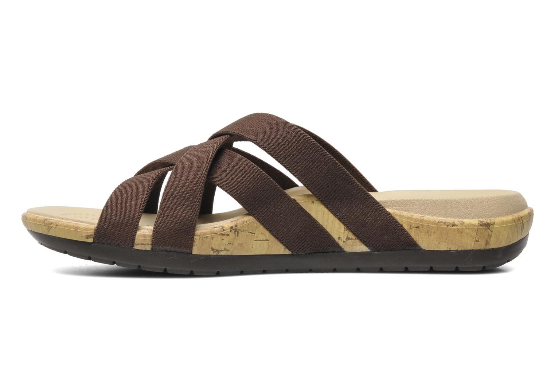 Clogs & Pantoletten Crocs Crocs Edie Stretch Sandal W braun ansicht von vorne