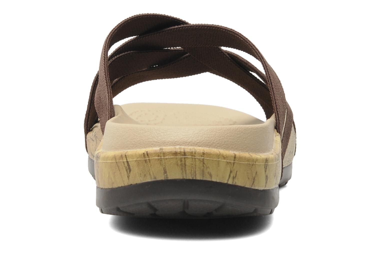 Clogs & Pantoletten Crocs Crocs Edie Stretch Sandal W braun ansicht von rechts