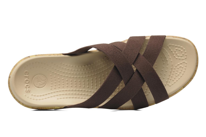 Clogs & Pantoletten Crocs Crocs Edie Stretch Sandal W braun ansicht von links