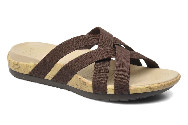 Clogs & Pantoletten Crocs Crocs Edie Stretch Sandal W braun detaillierte ansicht/modell