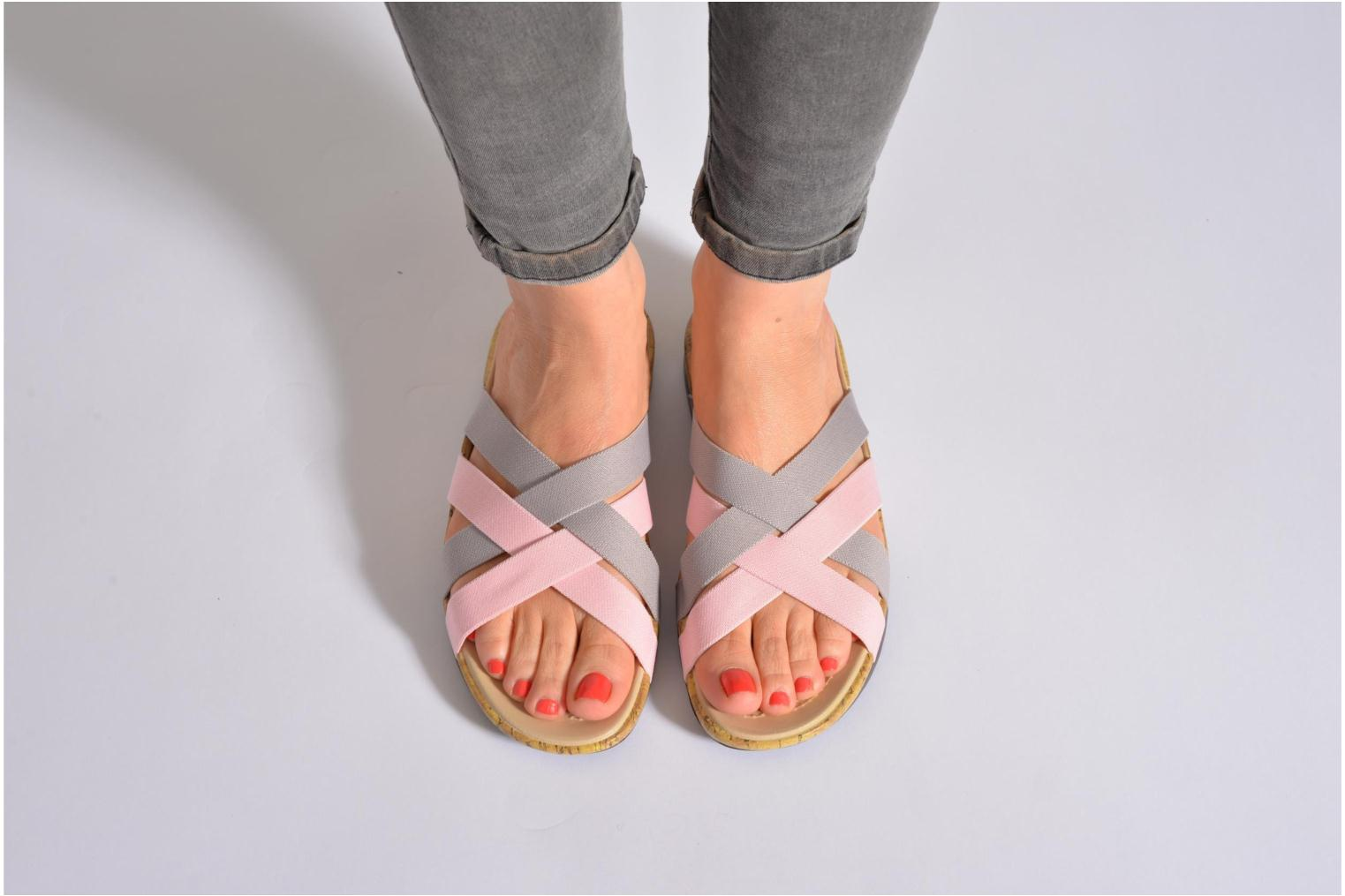 Mules & clogs Crocs Crocs Edie Stretch Sandal W Pink view from underneath / model view