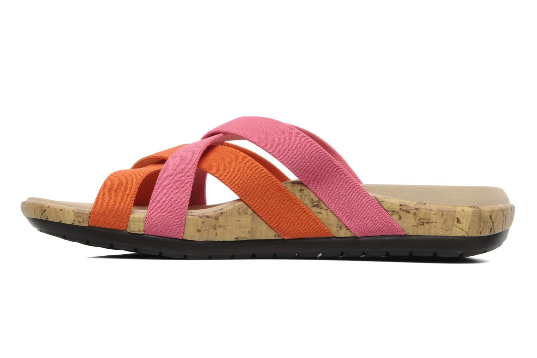 Zuecos Crocs Crocs Edie Stretch Sandal W Rosa vista de frente