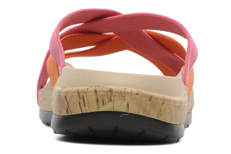 Zuecos Crocs Crocs Edie Stretch Sandal W Rosa vista lateral derecha