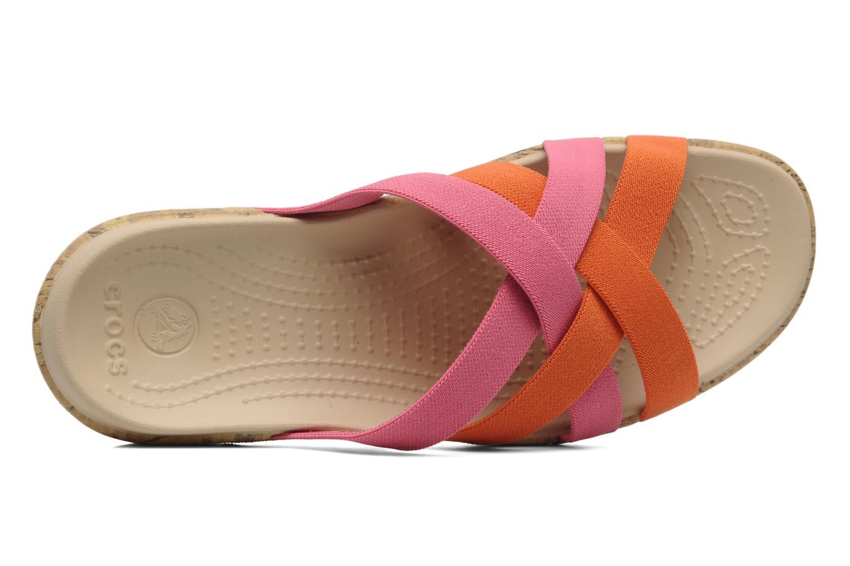 Zuecos Crocs Crocs Edie Stretch Sandal W Rosa vista lateral izquierda