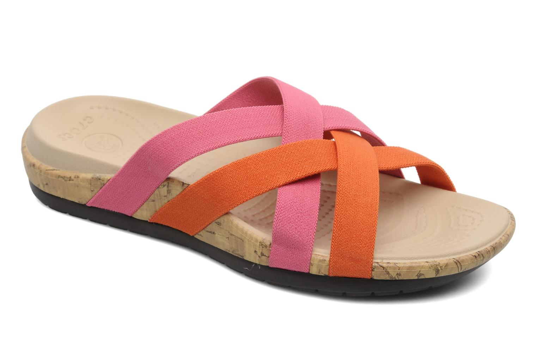 Zuecos Crocs Crocs Edie Stretch Sandal W Rosa vista de detalle / par