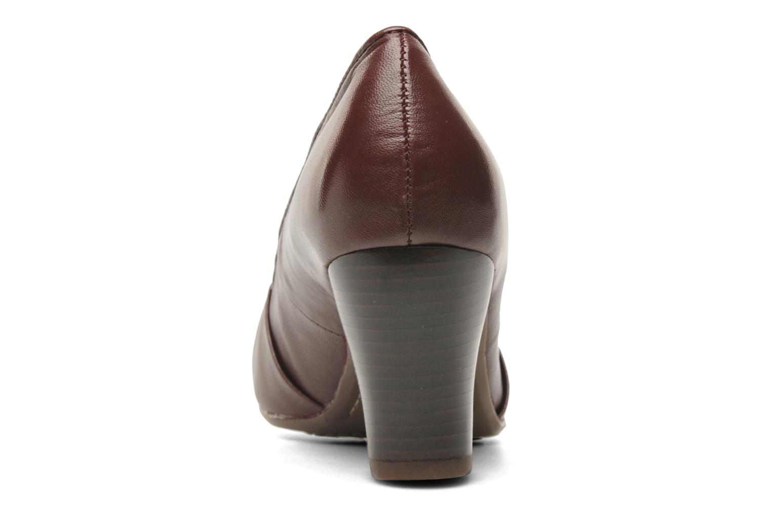 High heels Hush Puppies lonna pump Burgundy view from the right