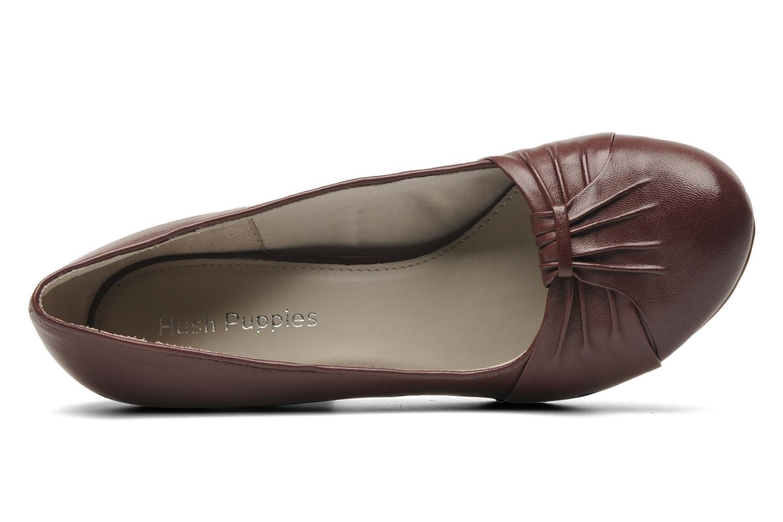 Zapatos de tacón Hush Puppies lonna pump Vino vista lateral izquierda