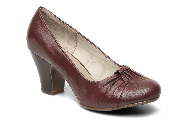 Høje hæle Hush Puppies lonna pump Bordeaux detaljeret billede af skoene